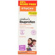 TopCare Children'S Ibuprofen 100 Mg Per 5 Ml Pain Reliever/Fever Reducer (Nsaid) Oral Suspension, Grape
