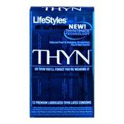 LifeStyles Thyn Thyntimate Technology Premium Lubricated Thyn Latex Condoms - 12 CT