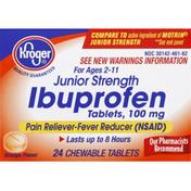 Kroger Ibuprofen, Junior Strength, 100 mg, Chewable Tablets, Orange Flavor