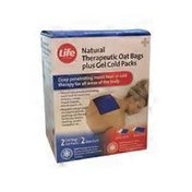 Life Brand Hot & Cold Natural Therapeutic Oat Bags Plus Gel Cold Packs