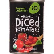 Inspired Organics Tomatoes, Organic, Diced