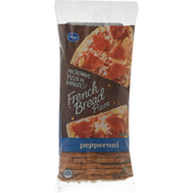 Kroger Pizza, French Bread, Pepperoni