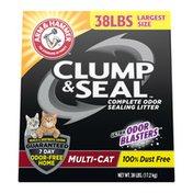 Arm & Hammer Clump & Seal Litter, Multi-Cat Litter 38