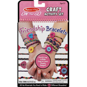 Melissa & Doug Craft Activity Set, Friendship Bracelets, On the Go