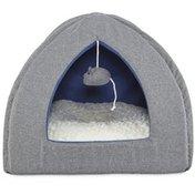 Harmony Grey Igloo Hooded Cat Bed Hrgbn