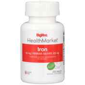 Hy-Vee Healthmarket, Iron 65 Mg | Ferrous Sulfate 325 Mg Mineral Supplement Tablets