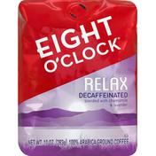 Eight O'Clock Coffee Coffee, 100% Arabica, Ground, Relax, Decaffeinated