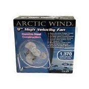 "Windstream 9"" Chrome Finish All Steel Construction High Velocity Fan"