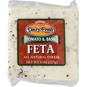 Dairy Fresh Cheese, Feta, Tomato & Basil, All Natural