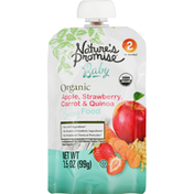 Nature's Promise Baby Food, Organic, Apple, Strawberry, Carrot & Quinoa, 2 (6+ Months)