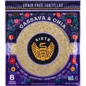 Siete Tortillas, Grain Free, Cassava & Chia