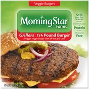 Morning Star Farms Grillers 1/4 Pound Burger Veggie Burgers