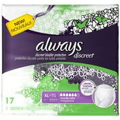 Always Discreet Always Discreet, Incontinence Underwear, Moderate Absorbency, Extra-Large, 17 Count Feminine Care