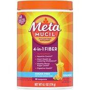 Metamucil Multi-Health Psyllium Fiber Supplement Sugar-Free Powder, Orange