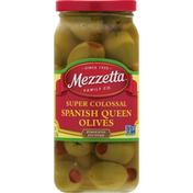Mezzetta Olives, Spanish Queen, Super Colossal, Pimento Stuffed