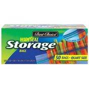 Best Choice Quart Size Zip Storage Bags