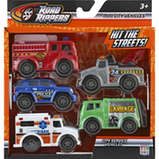 Road Rippers Toy Cars, City Service Vehicles