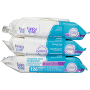 Tippy Toes Flushable Wipes, Melonberry Scent