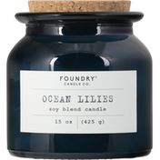 Foundry Candle Co. Candle, Ocean Lilies, Soy Blend