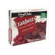 Food Club Cranberry Gelatin Mix