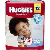 Huggies Snug & Dry Size 5 Diapers