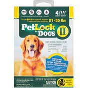 Petlock II Dogs 21-55 lbs. Flea & Tick Topical  Dogs Flea & Tick Topical Treatment