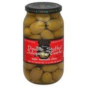 Tassos Olives, Super Mammoth, Double Stuffed Jalapeno Garlic