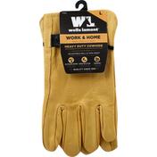 Wells Lamont Palomino Grain Cowhide Work Gloves - L - Tan