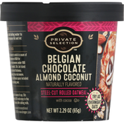 Private Selection Oatmeal, Rolled, Belgian Chocolate Almond Coconut, Steel-Cut