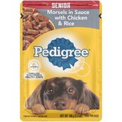 Pedigree Choice Cuts Senior Morsels in Sauce with Chicken & Rice Wet Dog Food