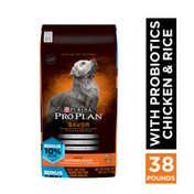Purina Pro Plan With Probiotics, High Protein, Digestive Health Dry Dog Food, Shredded Blend Chicken & Rice Formula