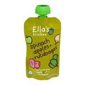 Ella's Kitchen Organic 4 Months Spinach Apples + Rutabagas