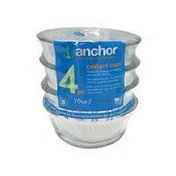 Anchor Hocking 10 Ounce Clear Oval Glass Custard Cup Set