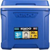 Igloo Cooler, Profile II, Blue, 30 Quarts
