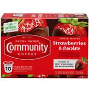 Community Coffee Strawberries & Chocolate Coffee Pods for Keurig K-cups