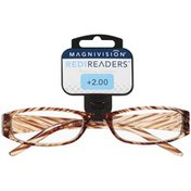 Magnivision ME69 2.00 Strength Light Brown Frame Redireaders Hayes