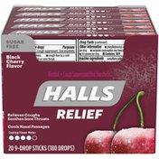 Halls Sugar Free Black Cherry Cough Suppressant/Oral Anesthetic Cough Drops