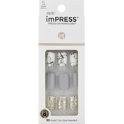 imPRESS Nail Kit, Short Length, Knock Out
