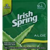 Irish Spring Deodorant Soap, Aloe, Bath Size