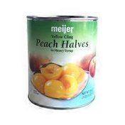 Meijer Yellow Cling Peach Halves in Heavy Syrup