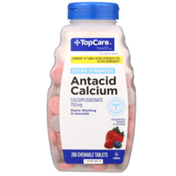 TopCare Extra Strength Antacid Calcium Carbonate 750 Mg Chewable Tablets, Assorted Berry