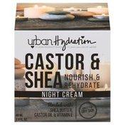 Urban Hydration Night Cream, Castor & Shea, Nourish & Rehydrate