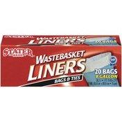 Stater Bros Bags & Ties 8 Gal Wastebasket Liners
