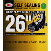 Bell Bicycle Tube, Standard Valve, Self Sealing, 26 inches