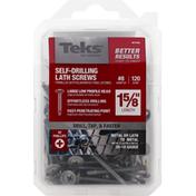 Teks Screws, Lath, Self-Drilling, Metal to Metal, 1-5/8 Inch Length