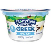 Stonyfield Organic Organic Greek Vanilla Bean Nonfat Yogurt