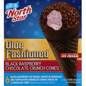 North Star Ice Cream, Black Raspberry Chocolate Crunch Cones