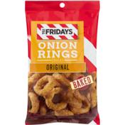 TGI Fridays Snacks, Onion Rings, Original, Baked, Bag