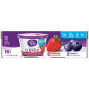Dannon Greek Blended Strawberry & Blueberry Nonfat Yogurt