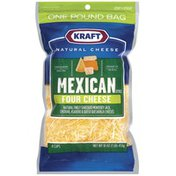 Kraft Mexican Style Four Cheese Finely Shredded Shredded Cheese